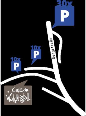 Café Waldkristall · Kaffee & Kuchen · Frühstück & Brunch · Lageplan